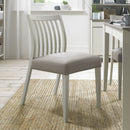 Boden Low Slatted Back Chair Grey Bonded Leather (Pair)
