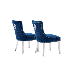 Omega Dining Chair Velvet Blue (Pair of Chairs)