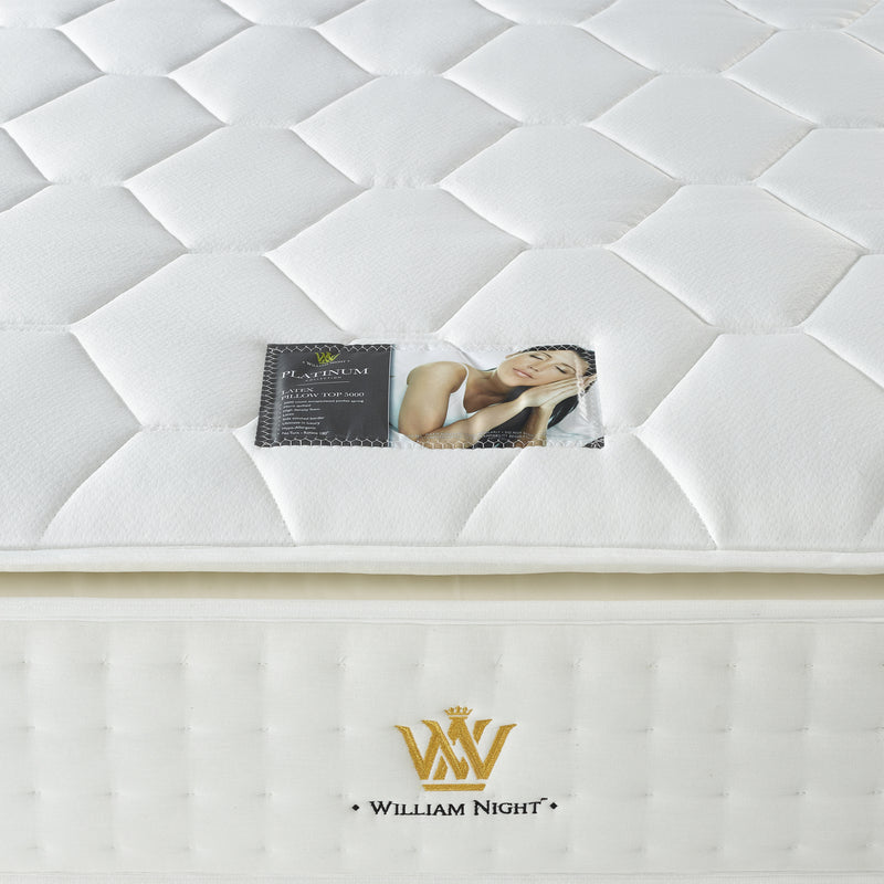 Latex Pillow Top 5000 Mattress Label