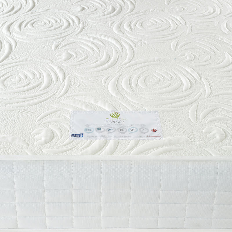 Lumbar 3000 Mattress Label