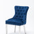 Omega Dining Chair Blue Velvet (Pair of Chairs)