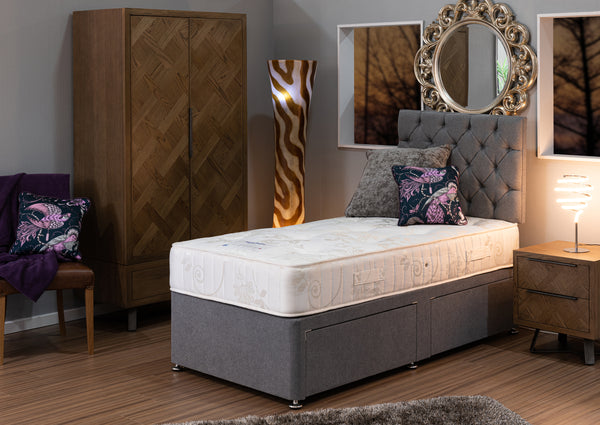 Divan Base including Oak King Mattress