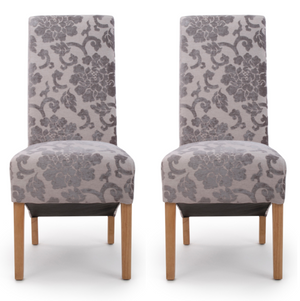 Hudson Dining Chair Baroque Mink (Pair)