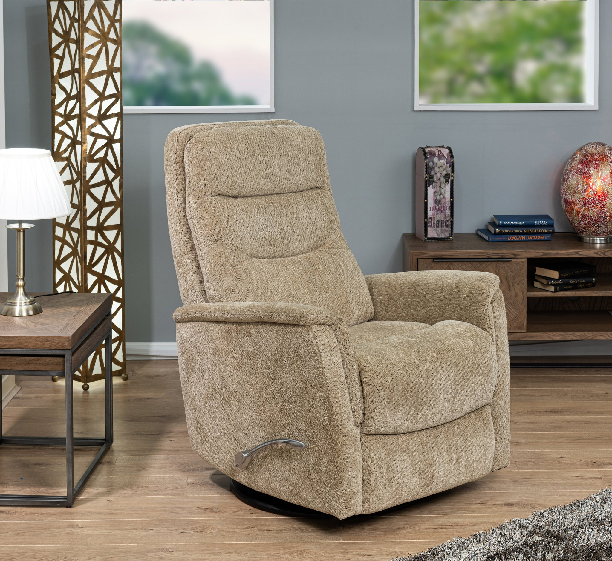 Lazzio Swivel Chair With Handle