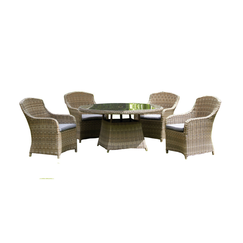 Wentworth 4 Seater Round Imperial Dining Set