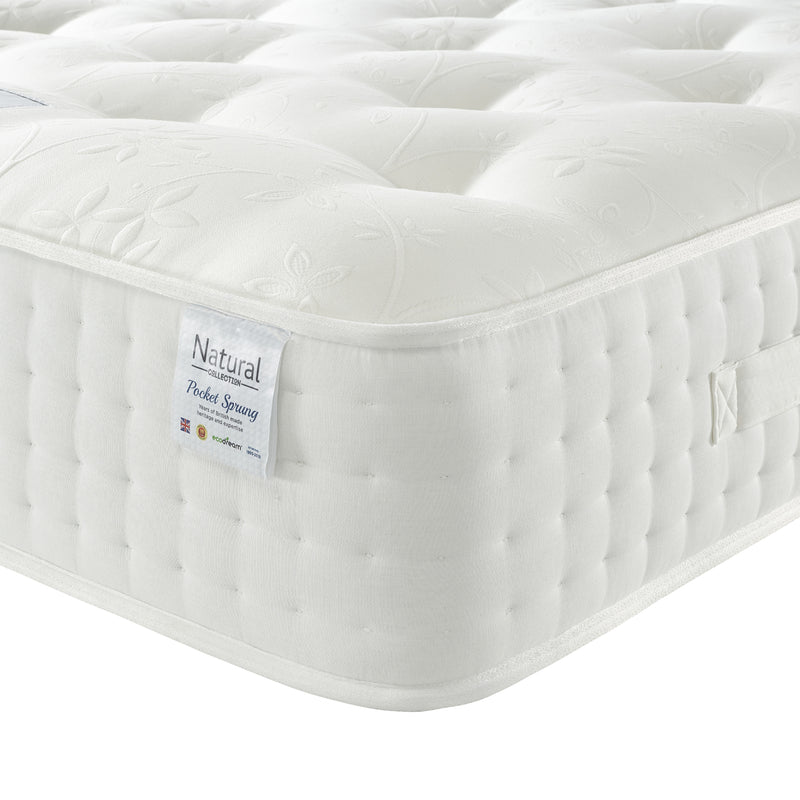Eco Medium Mattress Corner Close Up