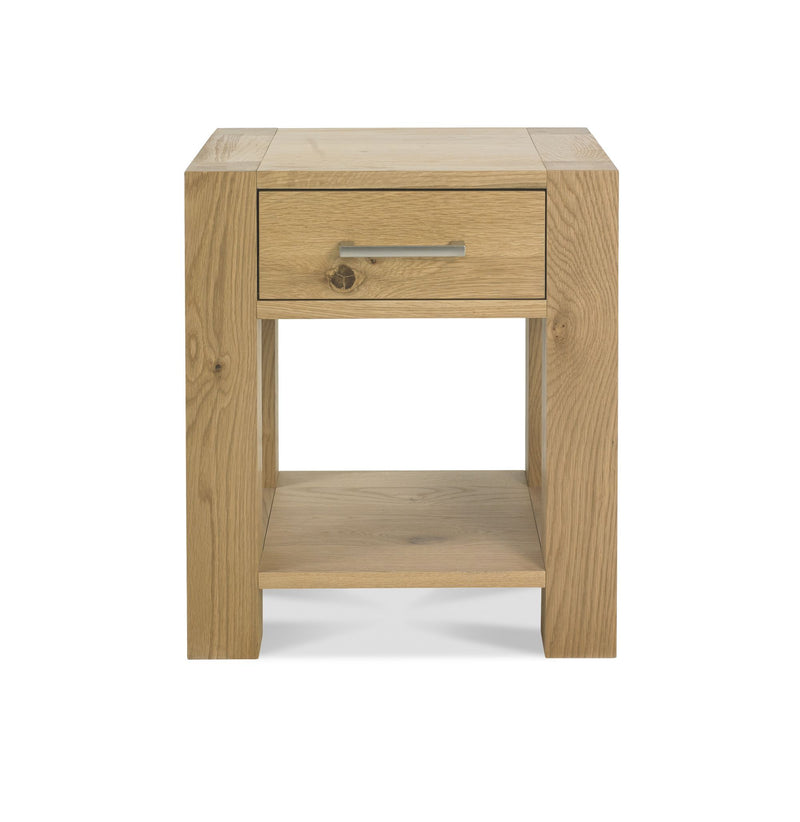 Tuscany Light Oak Lamp Table with Drawer