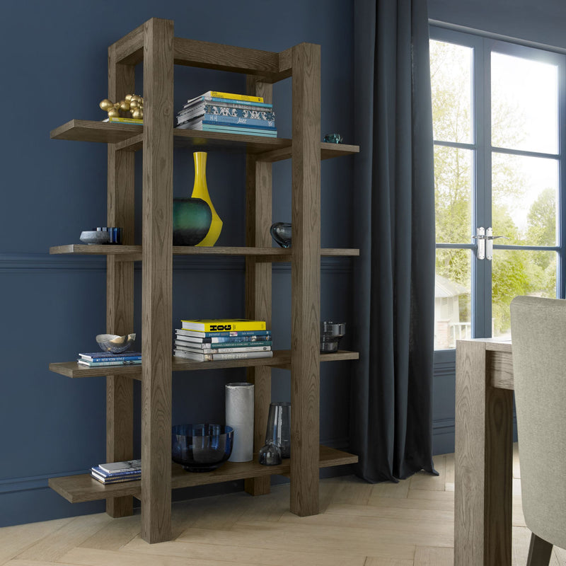 Tuscany Dark Oak Open Shelf Unit