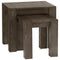 Turin Dark Oak Nest of Lamp Tables