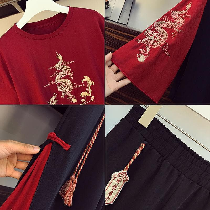 Chinese Style Costume with Dragon Embroidery - authentic Asian fashion from Korea, Japan and China.