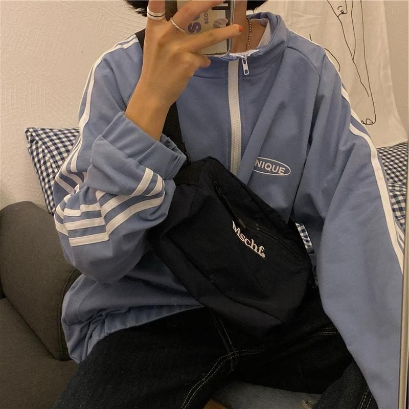 """UNIQUE"" Tracksuit Jacket - authentic Asian fashion from Korea, Japan and China."