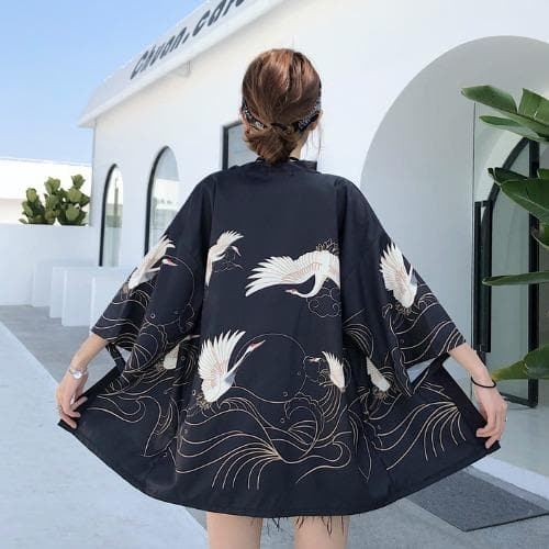 Asian Style Cardigan/Kimono with Chinese and Japanese Motives - authentic Asian fashion from Korea, Japan and China.