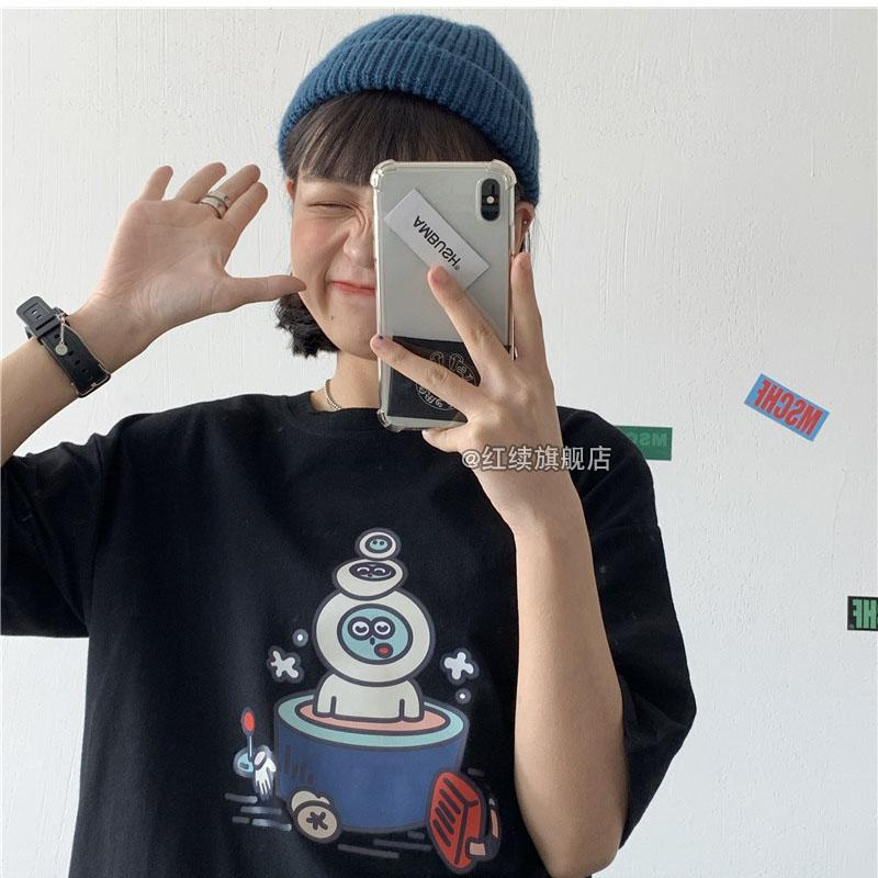 Cartoon Print Tee - authentic Asian fashion from Korea, Japan and China.