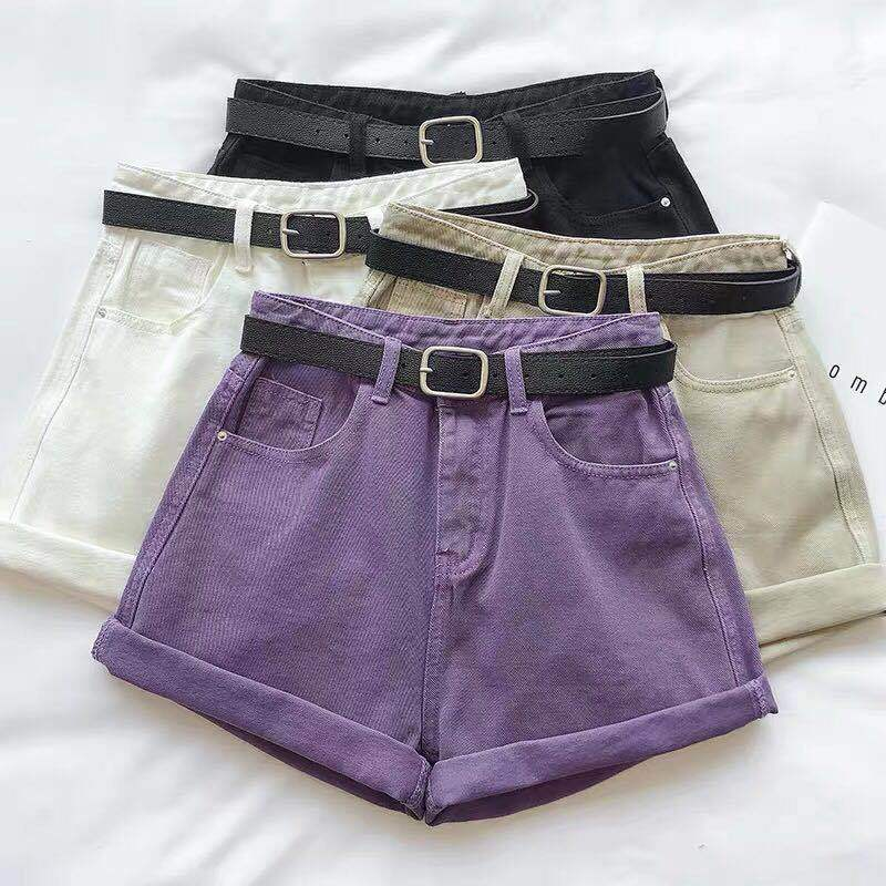 High Waist Denim Shorts - authentic Asian fashion from Korea, Japan and China.