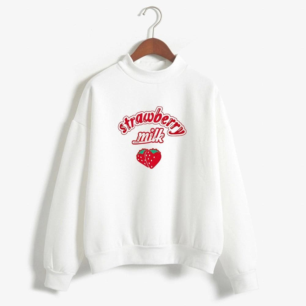 """strawberry milk"" Longsleeve Shirt - authentic Asian fashion from Korea, Japan and China."