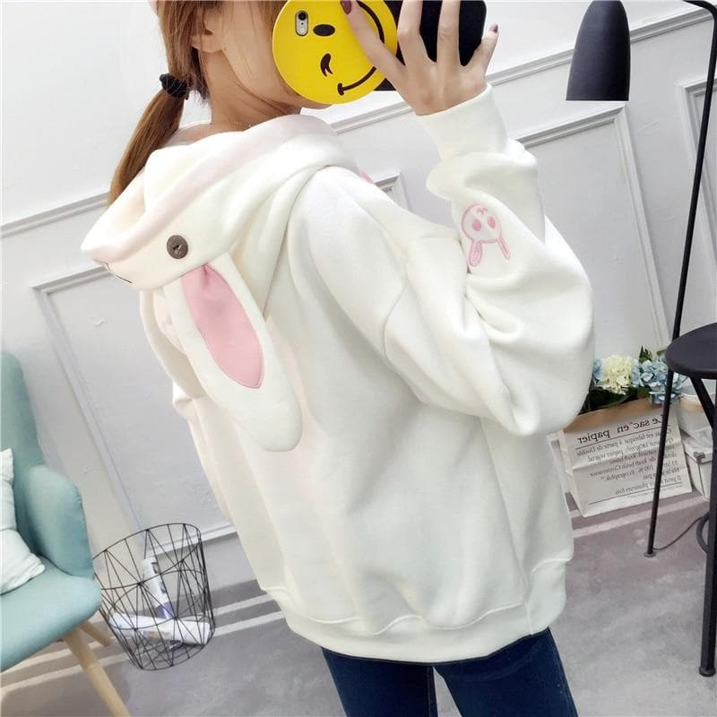 Bunny Ear Hoodie - authentic Asian fashion from Korea, Japan and China.