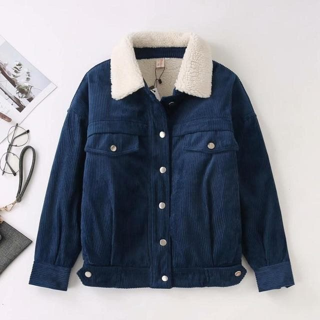 Corduroy Jacket - authentic Asian fashion from Korea, Japan and China.