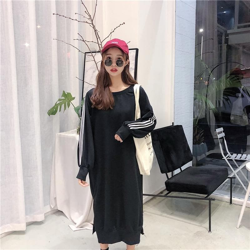 Oversized Maxi Sweater Dress - authentic Asian fashion from Korea, Japan and China.
