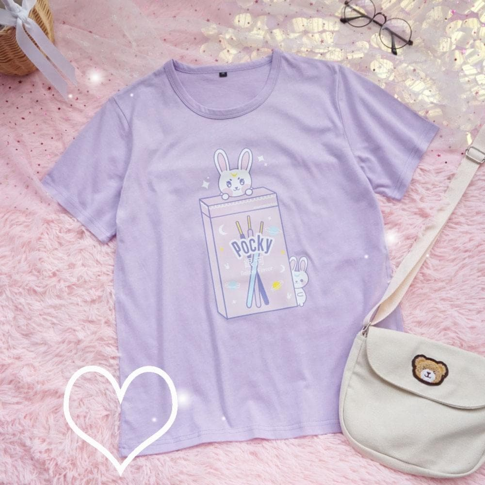 Pocky Bunny T-Shirt - authentic Asian fashion from Korea, Japan and China.