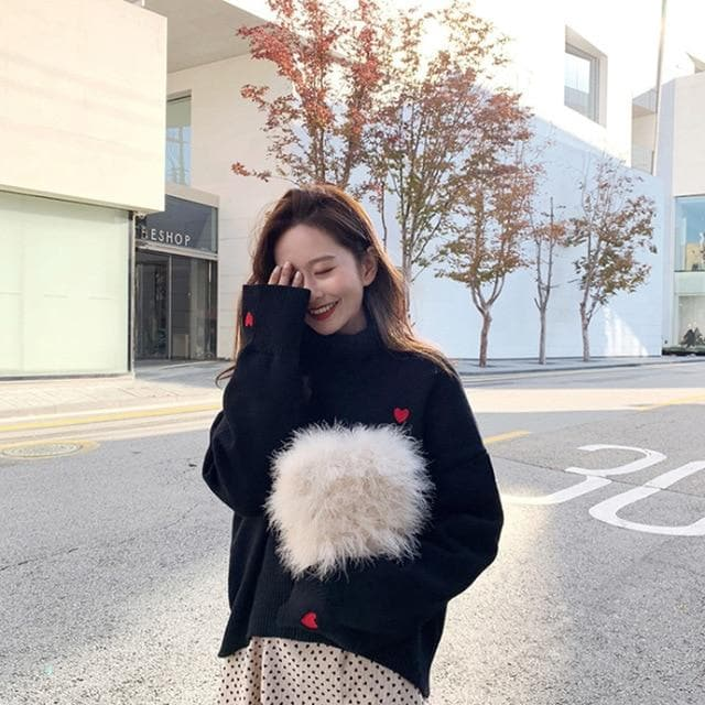 Knitted Turtleneck Sweater - authentic Asian fashion from Korea, Japan and China.