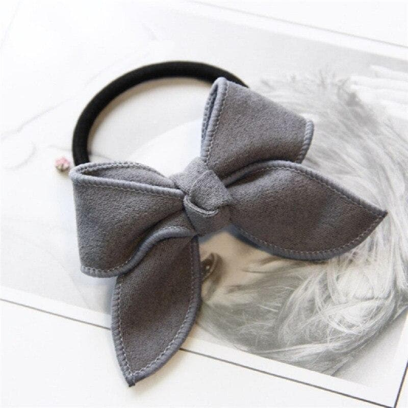 K-FASHION ♥ Elastic Bowtie Hair Tie - K-Pop Merch Lianox