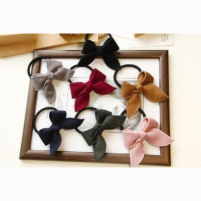 Elastic Bowtie Hair Tie - authentic Asian fashion from Korea, Japan and China.