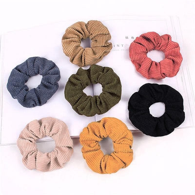 Corduroy-Like Hair Scrunchie - authentic Asian fashion from Korea, Japan and China.