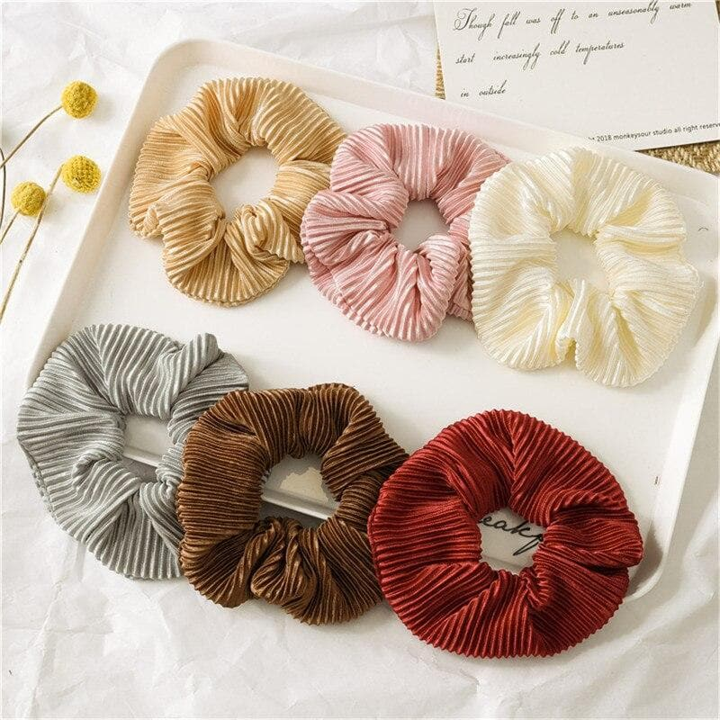 K-FASHION  Velvet Hair Scrunchie - K-Pop Merch Lianox