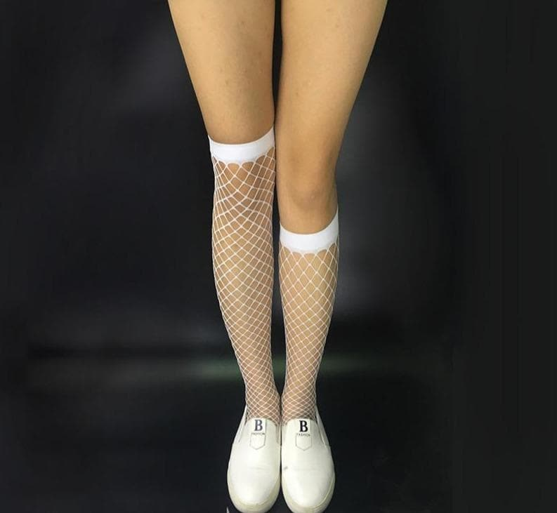 K-FASHION ♥ Fishnet Socks - K-Pop Merch Lianox