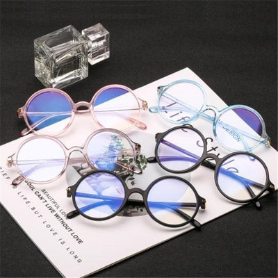Round Glasses With Thick Frame - authentic Asian fashion from Korea, Japan and China.