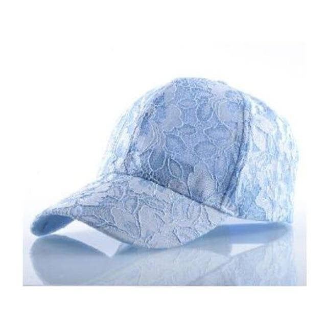 Baseball Cap with Flower Mesh - authentic Asian fashion from Korea, Japan and China.