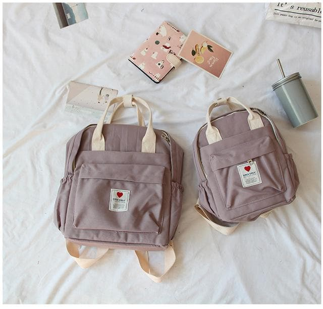 Soft Backpack with Double Handle (Small) - authentic Asian fashion from Korea, Japan and China.