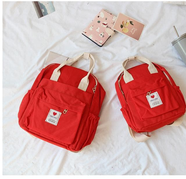 K-FASHION ♥ Soft Backpack With Double Handle (Large) - K-Pop Merch Lianox