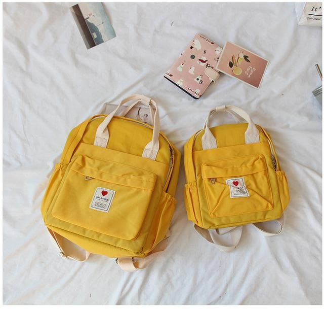 K-FASHION ♥ Soft Backpack With Double Handle (Small) - K-Pop Merch Lianox