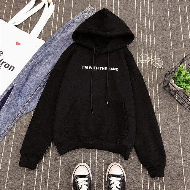 """I'M WITH THE BAND"" Hoodie - authentic Asian fashion from Korea, Japan and China."