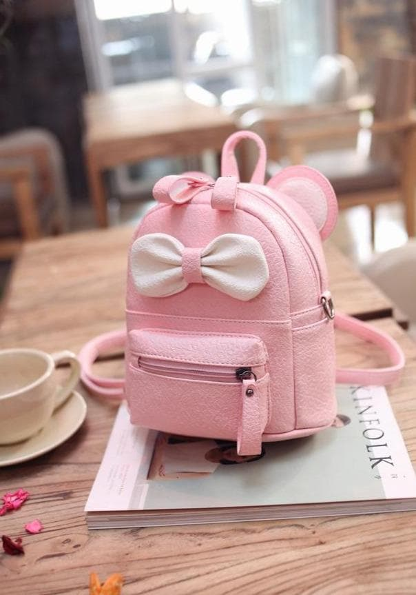 Cartoon Backpack With Bow - authentic Asian fashion from Korea, Japan and China.