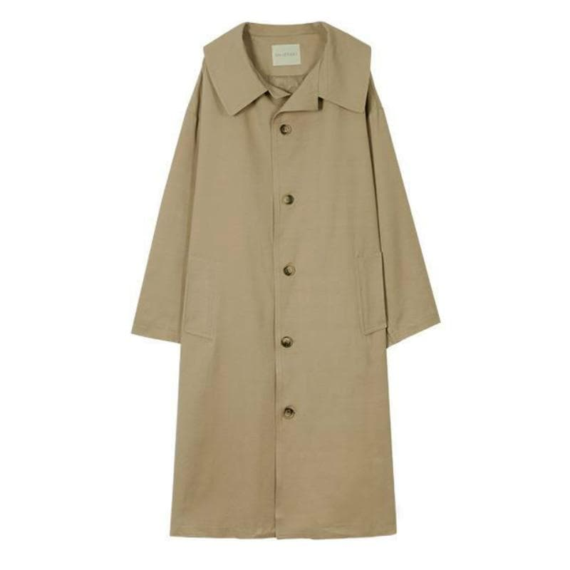 Long Oversize Trenchcoat - authentic Asian fashion from Korea, Japan and China.