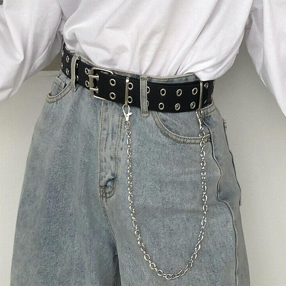 Rivet Belt (Optional Chain) (Many Variants!) - authentic Asian fashion from Korea, Japan and China.