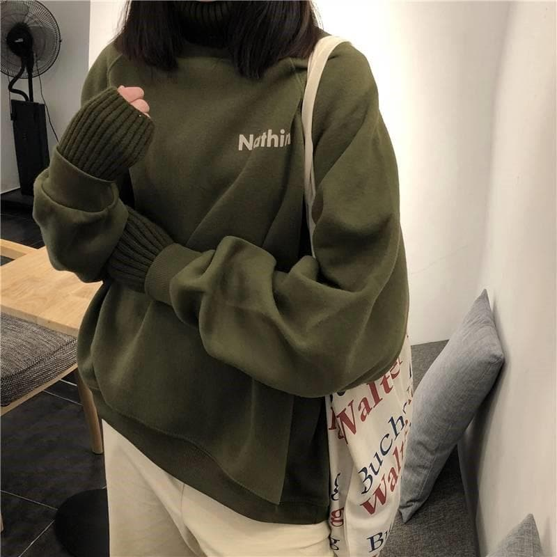 """Nathin"" 2-in-1 Turtleneck Sweater - authentic Asian fashion from Korea, Japan and China."
