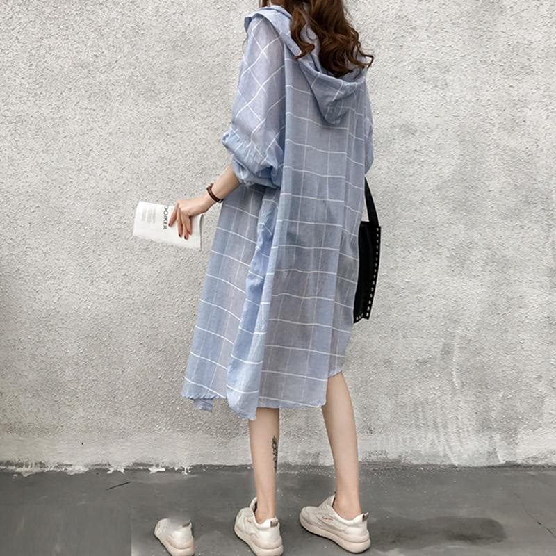 Hooded Long Shirt - authentic Asian fashion from Korea, Japan and China.