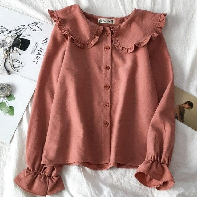 Longsleeve Blouse - authentic Asian fashion from Korea, Japan and China.