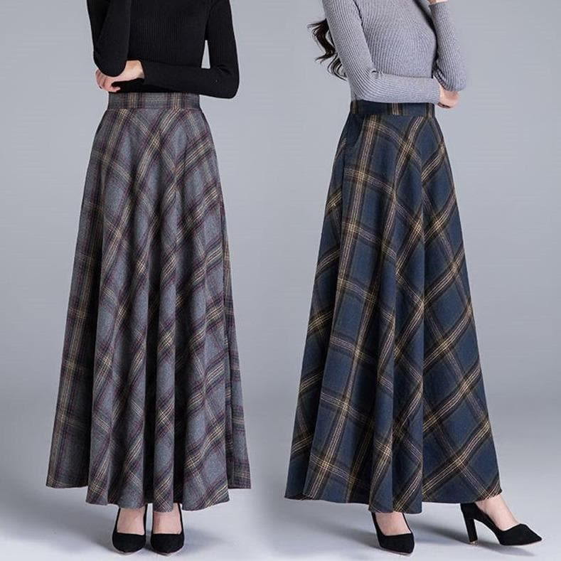 High Waist A-Line Maxi Skirt - authentic Asian fashion from Korea, Japan and China.