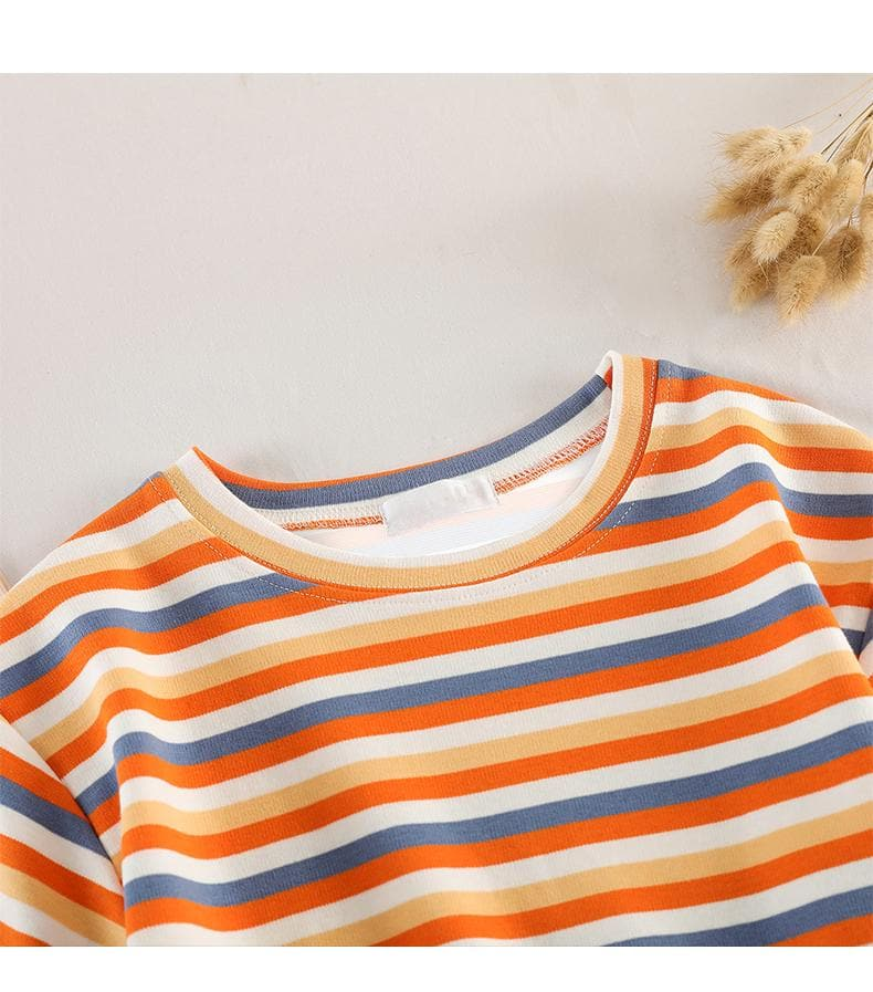 Crop Shirt with Stripes - authentic Asian fashion from Korea, Japan and China.