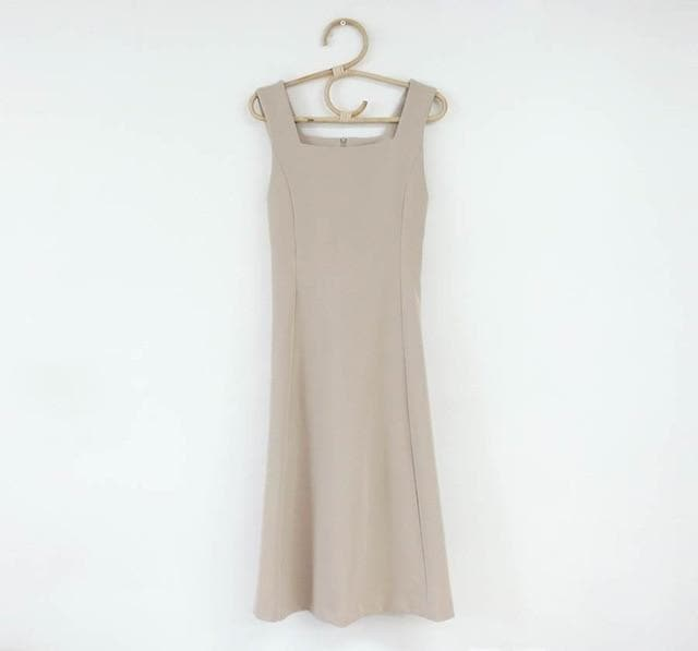 Sleeveless A-Line Dress - authentic Asian fashion from Korea, Japan and China.