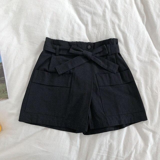 High Waist Shorts With Pockets And Waistband