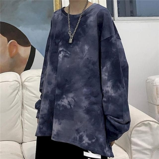 Tie Dye Longsleeve Batik Shirt - authentic Asian fashion from Korea, Japan and China.