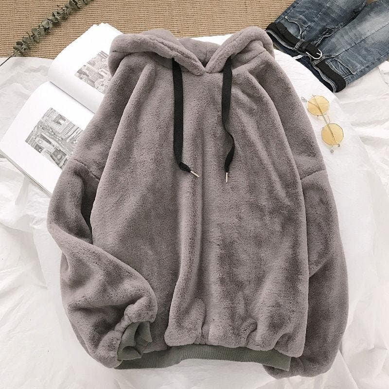 Fleece Hoodie - authentic Asian fashion from Korea, Japan and China.