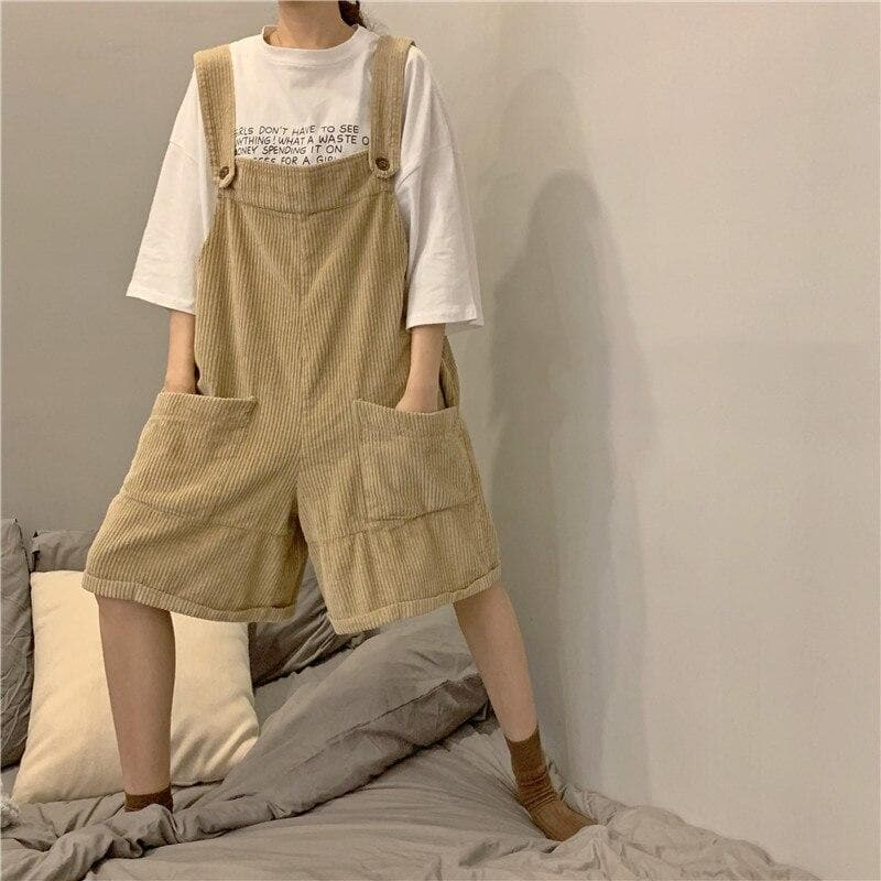 Corduroy Dungarees - authentic Asian fashion from Korea, Japan and China.