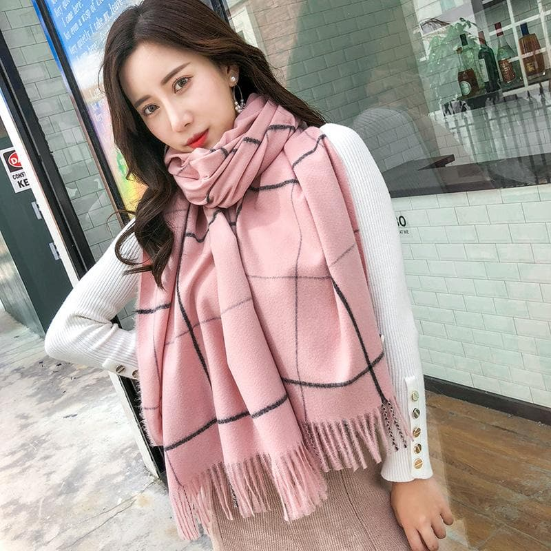 Plaid Scarf - authentic Asian fashion from Korea, Japan and China.
