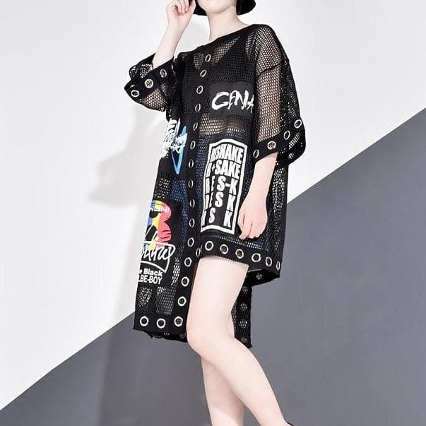 Oversized Net Shirt/Dress - authentic Asian fashion from Korea, Japan and China.